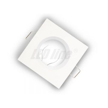 Collerette carré fixe - Blanc mat fonte LED LINE