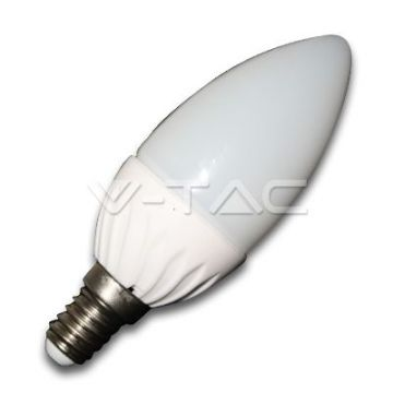 Ampoule LED 4W E14 Bougie 6000K   VT-1818