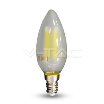Ampoule LED 4W Filament E14 Bougie Opaque 6400K VT-1936