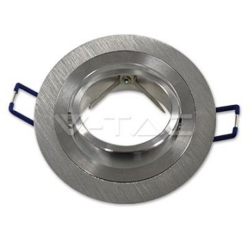 VT-782RD1*GU10 Fitting Round Aluminium Brush