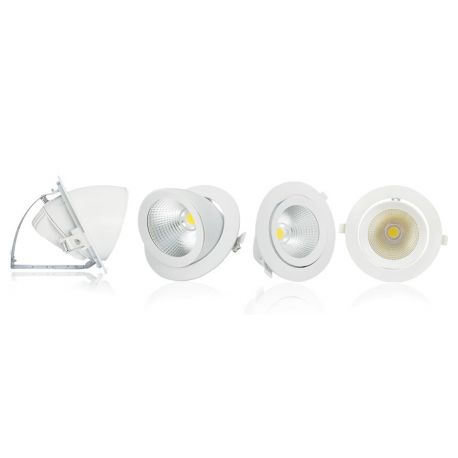 SPOT LED ESCARGOT ORIENTABLE finition blanc 10W 4000°K