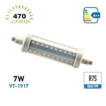 VT-1917LED Bulb - 7W R7S Plastic 6000K -