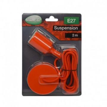 DOUILLE SILICON + CABLE 2 METRES RED