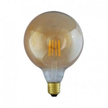 LED FIL COB GLOBE G125  E27 8W 2700°K GOLDEN BOITE DIMMABLE