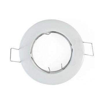 Collerette Vision-EL Rond Fixe 79mm Bague de fixation Finition Blanc