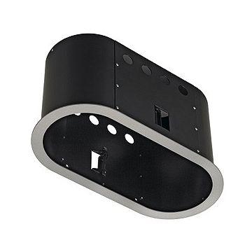 AIXLIGHT PRO 2 ROND AVEC COLLERETTE, cadre d'installation, gris argent/noir