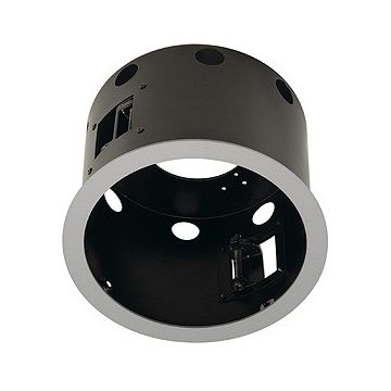 AIXLIGHT PRO 1 FLAT ROND AVEC COLLERETTE, cadre d'installation, blanc mat/noir