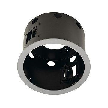 AIXLIGHT PRO 1 FLAT ROND AVEC COLLERETTE, cadre d'installation, gris argent/noir