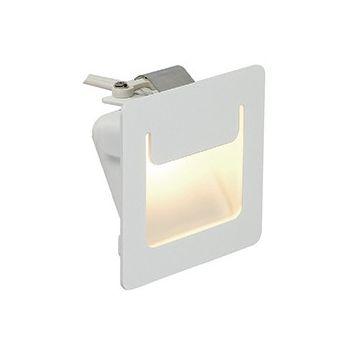 DOWNUNDER PUR encastré, carré, blanc, 3,5W LED blanc chaud, 80x80mm