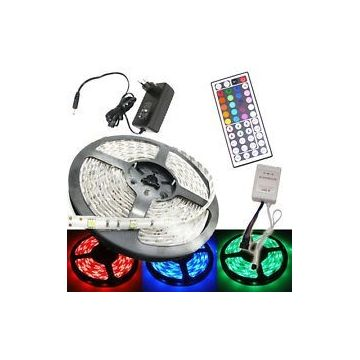 Pack Ruban LED 5M RGB SMD5050 IP20 télécommande 44 touches
