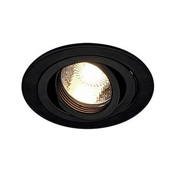 NEW TRIA GU10 ROND encastré, noir mat, max. 50W, clips ressorts