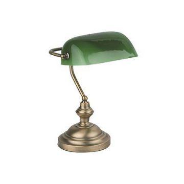 BANKER LAMPE DE TABLE E27 60W BRONCE