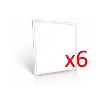 Dalle LED 600x600 45W Pack 6 Vt-6060 - Blanc Neutre - 4500k - 120 Deg V-TAC