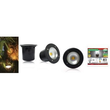 SPOT LED ENCASTRABLE SOL 3W 230V 4500°K IP65 ROND ANTHRACITE