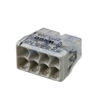 Borne Wago 2273 - 208 3 x0.5 à 2,5mm² Transparent / Gris - lot de 100