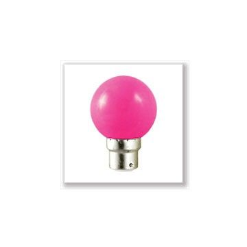 Ampoule LED Vision-EL Globe B22 1W rose 7646C