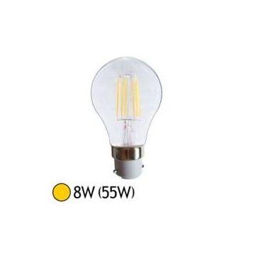 Ampoule LED cob filament - B22- 8W-2700°K