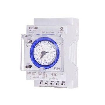 Interrupteur horaire modulaire 24 heures, cavalier enfichable, réserve de marche, 3 TLE