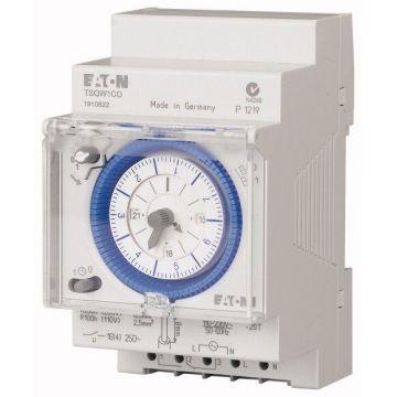 Interrupteur horaire modulaire 7 jours, cavalier enfichable, réserve de marche, 3 TLE