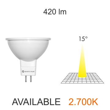 DICROICA LED MR16 12V 7W. 15º 3000K  420 Lumens