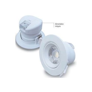 Spot LED 7W Dimmable Direct 220 - Blanc chaud IP44