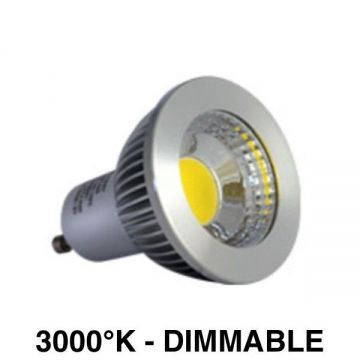 Ampoule LED COB 6W 3000k Dimmable ALU