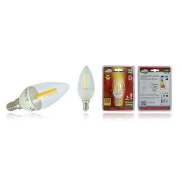 Ampoule LED E14 3W 3000K à filament flamme COB VISION-EL 7661B