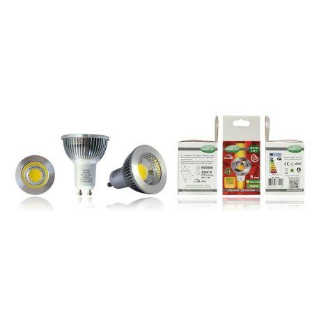 Ampoule Vision-El LED 5W GU10 2700K COB non-dimmable 75° BOI