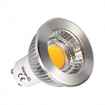 LED 5 WATT GU10  COB 3000° DIMMABLE 80°  ALUMIN BOI