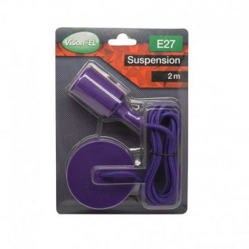 DOUILLE SILICON + CABLE 2 METRES  VIOLET