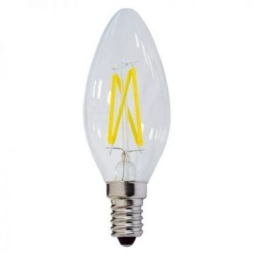 SP1472 LED CANDLE C35 4W 400LM E14 175-265V WARM WHITE LIGHT FILAMENT