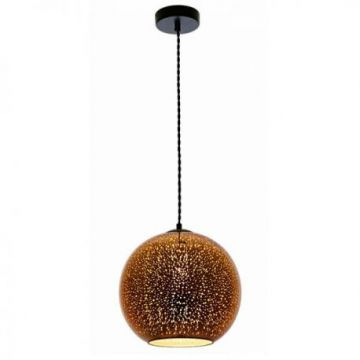 PD9001 3D GLASS PENDANT - E27 MAX 40W COPPER FIREWORKS D300xH275mm