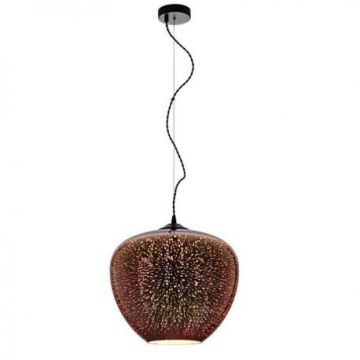 PD9026 3D GLASS PENDANT -  COPPER FIREWORKS  D400xH345mm