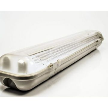 OT6651 FIXTURE FOR ONE SIDE POWER LED TUBE T8 2*60CM IP65