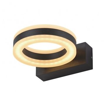 APPLIQUE MURALE LED 12W ROND 3000°K GRIS ANTHRACITE IP54