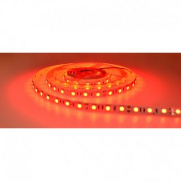 BANDE LED  ROUGE  5 M  60 LEDS  14.4 W / M IP20 12V