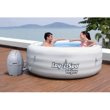 Bestway 54112 Lay-z-Spa Rond - Vegas Gonflable + Textile 4/6 Places