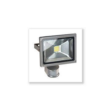 PROJECT LED VISION-EL 230 V  20 WATT 3000°K GRIS + DETECT IP65