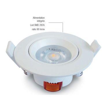 Spot LED 6.5W Direct 220 - Blanc chaud IP20