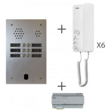 Kit audio 2r 6bp 2 voice programmé