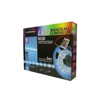 Kit complet STRIP LED IP65 LUMIHOME 3M RGB 7W/M MORGBSRK3ET