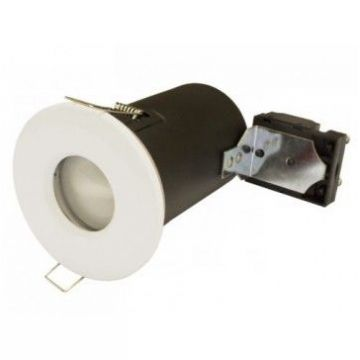 BBC/RT2012 - SPOT + PROTECTION ISOLANT + DOUILLE GU10 IP65 BLANC