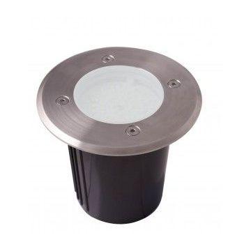 SPOT ROND ENCASTRABLE 230V 60 LED BLANC CHAUD 120mm pot d'encastrement inclus. INOX 316 / IP64 / 630 lumens (emballage boîte)