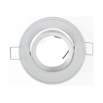 Support Plafond Orientable Vision-EL blanc rond diamètre 86mm