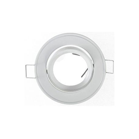 Support Plafond Orientable Vision-EL blanc rond diamètre 86mm