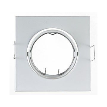 Support Plafond Orientable Vision-EL blanc carré dimension 84mm*84mm