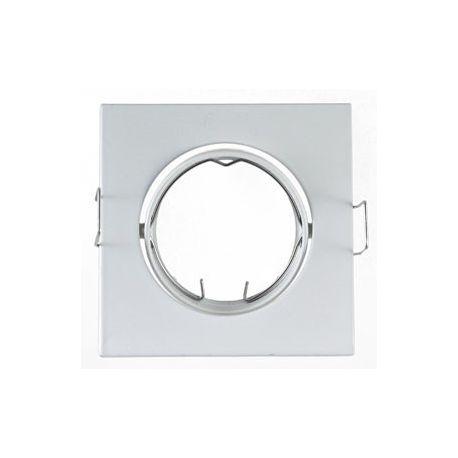 Support Plafond Orientable Vision-EL blanc carré dimension 84mm*84mm