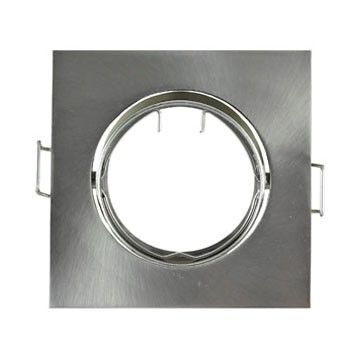Support Plafond Orientable Vision-EL argent carré diamètre 84mm*84mm