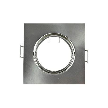 Support Plafond Orientable Vision-EL argent carré diamètre 84mm*84mm