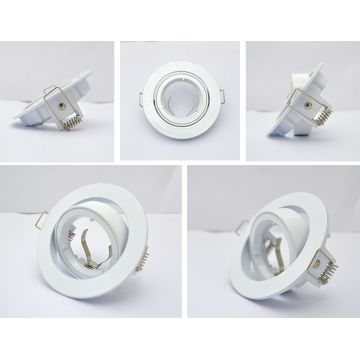 Support Plafond Orientable Vision-EL blanc rond diamètre 93mm